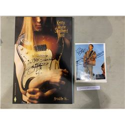 """BLUES MUSICIANS KENNY WAYNE SHEPHERD SIGNED """"TROUBLE IS"""" POSTER AND JONNY LANG SIGNED PHOTOGRAPH"""