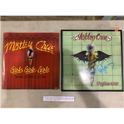 """MOTLEY CRUE SIGNED AND PROFESSIONALLY FRAMED """"DR. FEELGOOD"""" ALBUM, SIGNED BY TOMMY LEE WITH"""