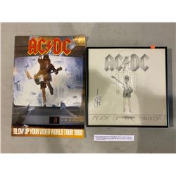 """AC/DC SIGNED """"FLICK OF THE SWITCH"""" ALBUM, SIGNED BY ANGUS YOUNG WITH CERTIFICATE OF AUTHENTICITY,"""