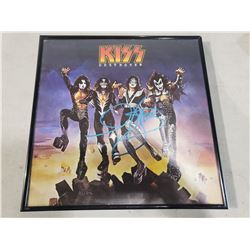 """GENE SIMMONS SIGNED AND FRAMED KISS """"DESTROYER"""" ALBUM WITH CERTIFICATE OF AUTHENTICITY. EXCELLENT"""