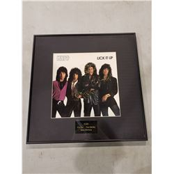 """KISS SIGNED AND PROFESSIONALLY FRAMED """"LICK IT UP"""" ALBUM, SIGNED BY GENE SIMMONS, PAUL STANLEY"""