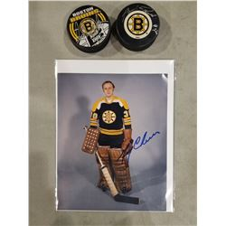 BOSTON BRUINS CAM NEELY AND GERRY CHEEVERS SIGNED PICTURES (2), BRAD PARK AND ADAM OATES SIGNED