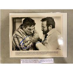 "ROBIN WILLIAMS (1951-2014) SIGNED 10 X 8 ""AWAKENINGS"" PRESS PHOTO WITH ROBERT DENIRO. KNOWN FOR"