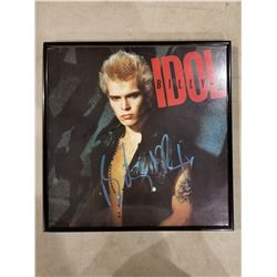 BILLY IDOL SIGNED AND PROFESSIONALLY FRAMED DEBUT ALBUM WITH CERTIFICATE OF AUTHENTICITY. EXCELLENT
