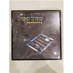 """SUPERTRAMP SIGNED AND FRAMED """"CRIME OF THE CENTURY"""" ALBUM, SIGNED BY JOHN HELLIWELL AND BOB"""