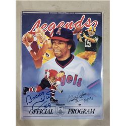 """BOBBY HULL, BROOKS ROBINSON, DUKE SNIDER SIGNED """"LEGENDS"""" MAGAZINE WITH CERTIFICATE OF AUTHENTICITY"""