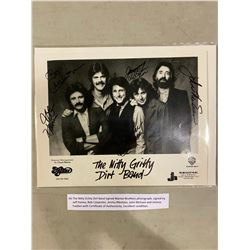THE NITTY GRITTY DIRT BAND SIGNED WARNER BROTHERS PHOTOGRAPH, SIGNED BY JEFF HANNA, BOB CARPENTER,