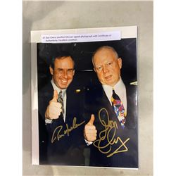 DON CHERRY AND RON MCLEAN SIGNED PHOTOGRAPH WITH CERTIFICATE OF AUTHENTICITY. EXCELLENT CONDITION