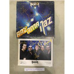 "NAZARETH SIGNED ""RAZAMANAZ"" ALBUM, SIGNED BY ORIGINAL BAND MEMBERS DAN MCCAFFERTY AND PETE AGNEW"
