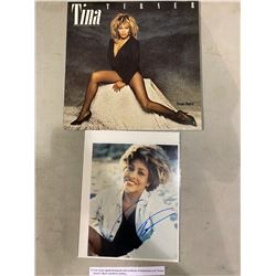 "TINA TURNER SIGNED PHOTOGRAPH WITH CERTIFICATE OF AUTHENTICITY AND ""PRIVATE DANCER"" ALBUM."