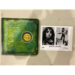 "ALICE COOPER SIGNED PHOTO PHOTOGRAPH WITH CERTIFICATE OF AUTHENTICITY AND ""BILLION DOLLAR BABIES"""