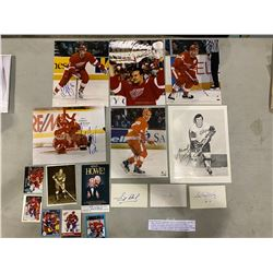 DETROIT RED WINGS AUTOGRAPHS (16 ITEMS) - INCLUDING PICTURES SIGNED BY NIKLAUS LIDSTROM, SERGEI
