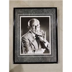GEORGE BURNS (1896-1996) SIGNED AND PROFESSIONALLY FRAMED PHOTOGRAPH WITH CERTIFICATE OF