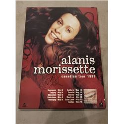 ALANIS MORISETTE SIGNED 1999 TOUR POSTER WITH CERTIFICATE OF AUTHENTICITY. SOLD MORE THAN 75