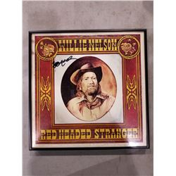 "WILLIE NELSON SIGNED AND PROFESSIONALLY FRAMED ""RED HEADED STRANGER"" ALBUM WITH CERTIFICATE OF"