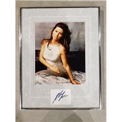 SHANIA TWAIN SIGNED AND PROFESSIONALLY FRAMED DISPLAY WITH CERTIFICATE OF AUTHENTICITY. THE BEST