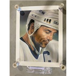 "DOUG GILMOUR SIGNED ""IN THE MOMENT"" 1994 LIMITED EDITION ART PRINT 62 OF 993 SIGNED BY THE ARTIST"