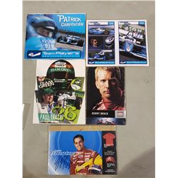 RACE CAR DRIVER AUTOGRAPHS (5) - INCLUDES PICTURES SIGNED BY PAUL TRACY, ALEXANDRE TAGLIANI,