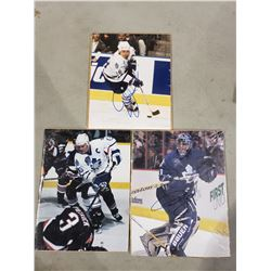TORONTO MAPLE LEAFS AUTOGRAPHS (3 ITEMS) - INCLUDES PICTURES SIGNED BY TIE DOMI, MATS SUNDIN AND