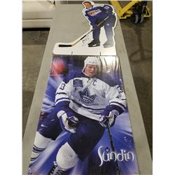 "MATS SUNDIN TORONTO MAPLE LEAFS SIGNED POSTER AND SIGNED ""DORITOS"" CARDBOARD ADVERTISEMENT WITH"