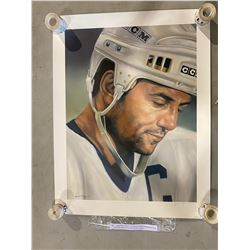 "DOUG GILMOUR SIGNED ""IN THE MOMENT"" 1994 LIMITED EDITION ART PRINT 61 OF 993 ALSO SIGNED BY THE"