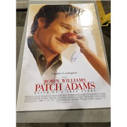 "ROBIN WILLIAMS (1951-2014) SIGNED AND SHRINK WRAPPED ""PATCH ADAMS"" MOVIE POSTER WITH CERTIFICATE"