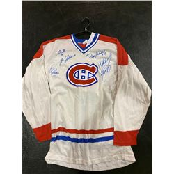 VINTAGE MONTREAL CANADIANS (SANDOW) SIGNED JERSEY - SIGNED BY GUY LAFLEUR, YVAN COURNOYER,