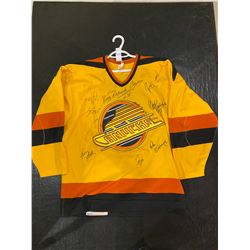 "VANCOUVER CANUCKS RICHARD BRODEUR GAME WORN JERSEY SIGNED BY BRODEUR, TONY TANTI, DAVE ""TIGER"""