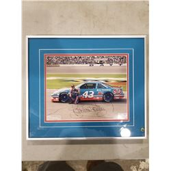 RICHARD PETTY SIGNED AND PROFESSIONALLY FRAMED NASCAR PHOTOGRAPH WITH CERTIFICATE OF AUTHENTICITY