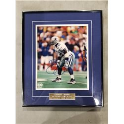 EMMITT SMITH SIGNED AND PROFESSIONALLY FRAMED DALLAS COWBOYS PHOTOGRAPH WITH CERTIFICATE OF