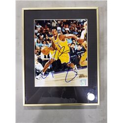 KOBE BRYANT (1978-2020) SIGNED AND PROFESSIONALLY FRAMED L.A LAKERS PHOTOGRAPH WITH CERTIFICATE