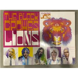 "THE BLACK CROWES BAND SIGNED ""LIONS"" POSTER, SIGNED BY CHRIS & RICH ROBINSON AND THE BAND WITH"