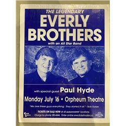 THE EVERLY BROTHERS SIGNED CONCERT POSTER, SIGNED BY PHIL EVERLY (1939-2014) AND DON EVERLY WITH