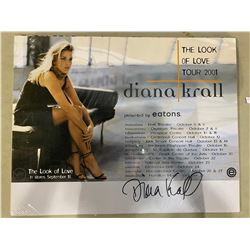 "DIANA KRALL SIGNED ""THE LOOK OF LOVE"" TOUR (2001) POSTER WITH CERTIFICATE OF AUTHENTICITY. KRALL HAS"