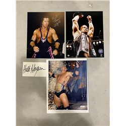 "WRESTLING LEGENDS AUTOGRAPHS (4) - INCLUDES PICTURES SIGNED BY BRET ""THE HITMAN"" HART, ""STONE COLD"""