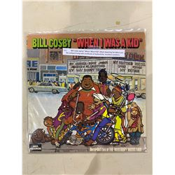"BILL COSBY SIGNED ""WHEN I WAS A KID"" ALBUM DEPICTING FAT ALBERT AND THE JUNKYARD GANG WITH"
