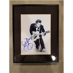 CHUCK BERRY (1926-2017) SIGNED AND PROFESSIONALLY FRAMED PICTURE WITH CERTIFICATE OF AUTHENTICITY.