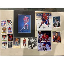 MONTREAL CANADIANS AUTOGRAPHS (16 ITEMS) - INCLUDING ITEMS SIGNED BY BERNIE GEOFFRION (1931-2006),