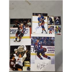 COLORADO AVALANCHE (& ROCKIES) AUTOGRAPHS (8 ITEMS) - INCLUDING PICTURES SIGNED BY PETER FORSBERG,
