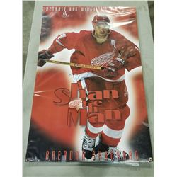 HOCKEY LEGENDS SIGNED POSTERS (2 ITEMS) - INCLUDES STEVE YZERMAN TEAM CANADA SIGNED POSTER AND