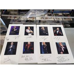 MUSIC LEGENDS SIGNED AND MATTED DISPLAYS (8 ITEMS) - INCLUDES ITEMS SIGNED BY NEIL SEDAKA, DAVID