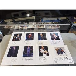 MUSIC LEGENDS SIGNED AND MATTED DISPLAYS (8 ITEMS) - INCLUDES ITEMS SIGNED BY THE TEMPTATIONS,