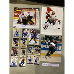 EDMONTON OILER AUTOGRAPHS (16 ITEMS) - INCLUDING ITEMS SIGNED BY GRANT FUHR, ESA TIKKANEN, BILL