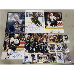 DALLAS STARS AUTOGRAPHS (19 ITEMS) - INCLUDING PICTURES SIGNED BY BRETT HULL, MIKE MODANO, DERIAN
