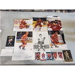 DETROIT RED WINGS AUTOGRAPHS (16 ITEMS) - INCLUDING PICTURES SIGNED BY GORDIE HOWE, (1928-2016),