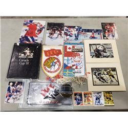 TEAM CANADA AND INTERNATIONAL HOCKEY AUTOGRAPHS (18) - INCLUDES WAYNE GRETZKY SIGNED HARDCOVER