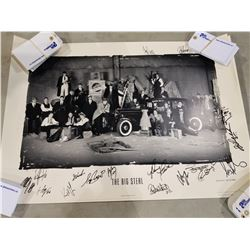 "VANCOUVER CANUCKS LIMITED EDITION PRINTS. TWO ""THE BIG STEAL"" PRINTS ONE SIGNED BY 16 INCLUDING KIRK"