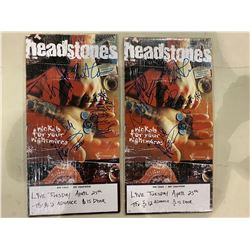 THE HEADSTONES BAND SIGNED CONCERT POSTERS (2 ITEMS) WITH CERTIFICATE OF AUTHENTICITY. EXCELLENT