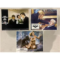 VINTAGE MOVIE LOBBY CARDS - KING KONG/JESSICA LANGE 1976, 3 DAYS OF THE CONDOR/ROBERT REDFORD 1975,