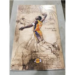 KOBE BRYANT (1978-2020) SIGNED L.A. LAKERS SHRINK WRAPPED POSTER WITH CERTIFICATE OF AUTHENTICITY.